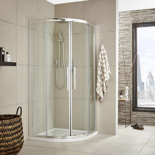 Matrix Chrome 900mm Quadrant Shower Enclosure